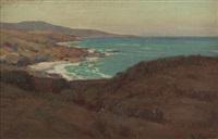 coastal scene, southern california by elmer wachtel