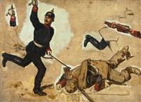 sturm der französischen truppen auf st. privat am 18.08.1870 by louis (ludwig) braun