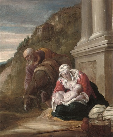 the rest on the flight into egypt by david teniers the elder
