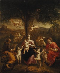 saint lucas portraying madonna with child by pieter abrahamsz ykens