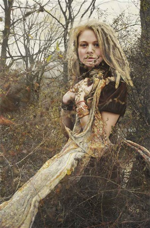 untitled; priscilla with vines by yigal ozeri