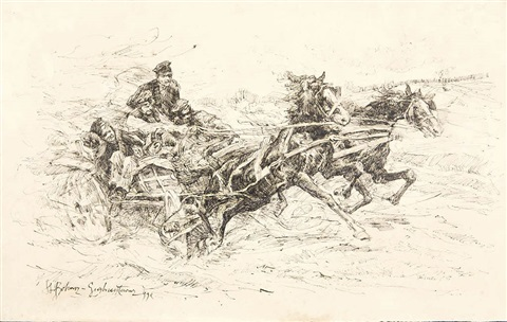 sploszone konie by stanislaw bohusz siestrzencewicz