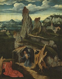 saint jerome in the wilderness by joachim patinir