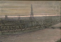 parisian panorama by henri visconte