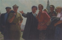 lenin with the people by andrei lysenko