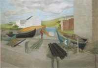 the quayside, cleggan by barbara warren