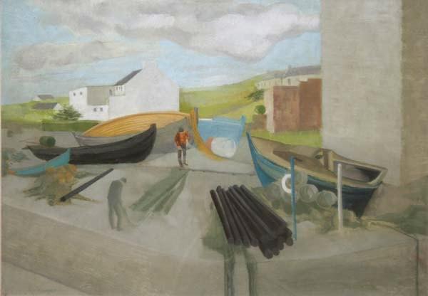 the quayside, cleggan by barbara warren