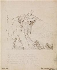 danger (man on a precipice) by washington allston