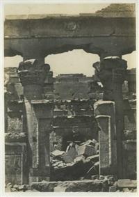 nubie, porte de pronaos, kalabscheh by maxime du camp
