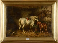 chevaux à l'écurie by willem jacobus boogaard