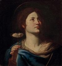 die hl. agatha von catania mit den abgeschnittenen brüsten by pontormo (jacopo carucci)