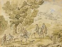 scène de chasse by dirk maes