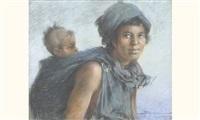 femme à l'enfant by carlos abascal