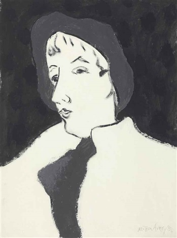 girl with beret by milton avery