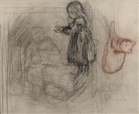 esquisses préparatoires (preparatory sketches)(recto-verso) by jacobs (jakob) smits