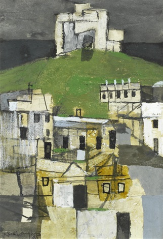 pickering castle by keith vaughan