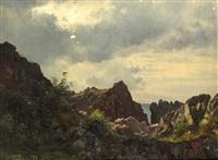 landschaft mit klippen (bornholm) by carl frederik peder aagaard