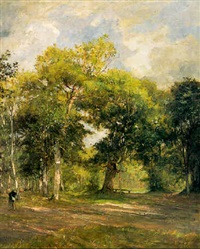 la forêt de saint-germain by marie ferdinand jacomin