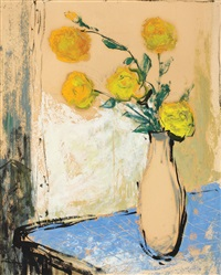 yellow roses by sever frentiu