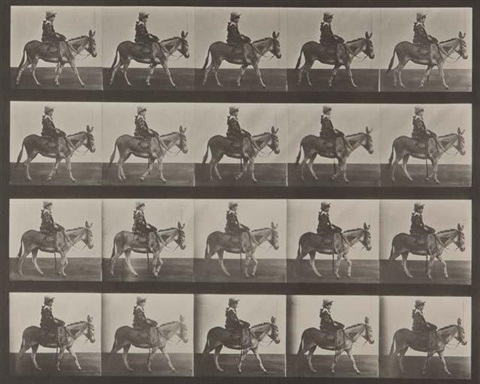 animal locomotion pl 666 petite fille sur un âne by eadweard muybridge