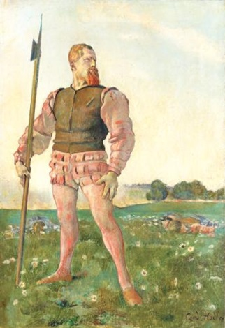 der zornige krieger the angry warrior by ferdinand hodler