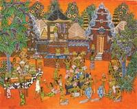 temple festival by ketut punduh
