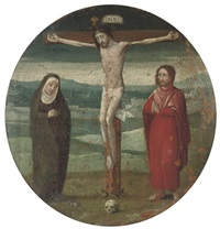 the crucifixion with the virgin and saint john by marcellus coffermans