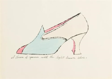 i dream of jeannie with the light brown shoes by andy warhol