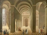 elégantes et élégants sous des arcades by pierre-joseph lafontaine