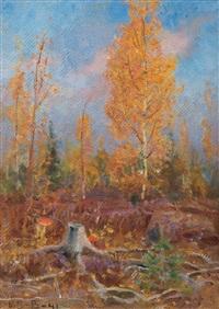 autumn landscape by venny soldan-brofeldt