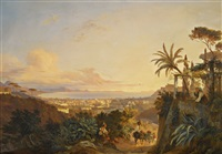 the gulf of naples, viewed from the capo di monte by carl (karl) wilhelm götzloff