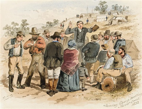 sunday camp meeting forest creek by samuel thomas gill