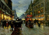 paris street scene by charles courcelles