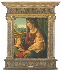 the madonna and christ child with saint catherine of alexandria by innocenzo di pietro (da imola) francucci