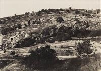 jerusalem, vallée de hinnom, ensemble du flane droit by auguste salzmann