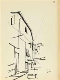cartella di 7 disegni (portfolio w/ 7 works) by renzo piano