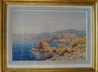 la citadelle de calvi, bord de mer by émile appay