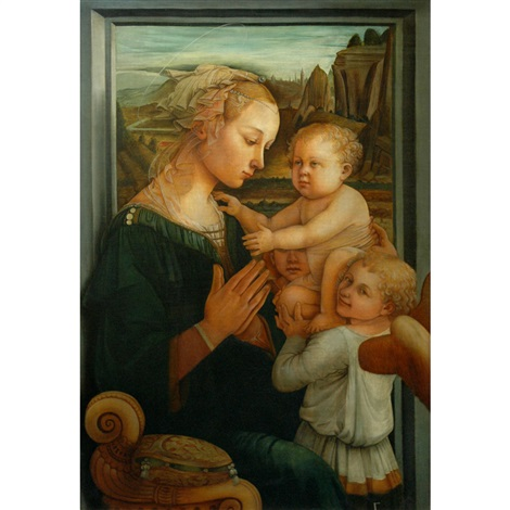 madonna and child with an angel by filippo filippino lippi