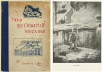 how the other half lives (book w/18 works, octavo, first ed.) and how the other half lives (variant issue) (2 works) by jacob august riis