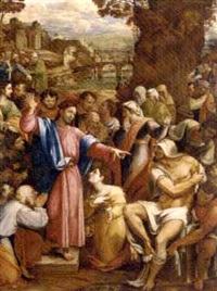 the raising of lazarus (after sebastiano del piombo) by george saunders-thwaites