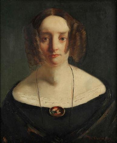 portrait de dame by théodore chassériau
