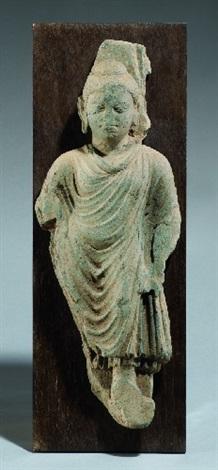 a gandhara greenish schist standing buddha 3rd4th century