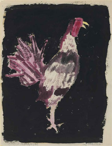 rooster by milton avery