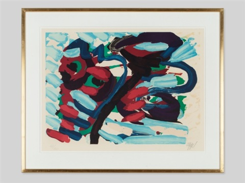 abstract composition by karel appel