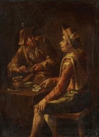 les joueurs de cartes by giacomo francesco cipper