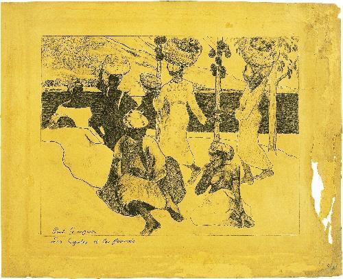 les cigales et les fourmis souvenir de la martinique by paul gauguin