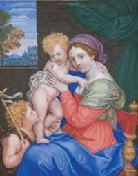 madonna con bambino e san giovannino by teresa del po
