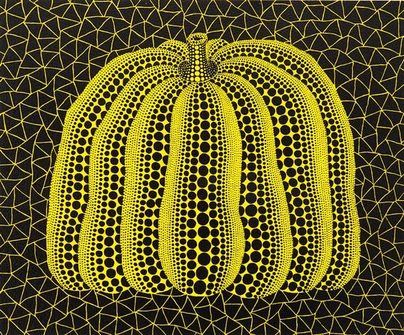 a pumpkiny by yayoi kusama