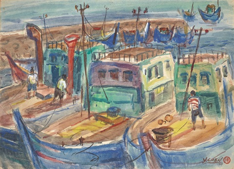 淡水漁船 tamsui fish boats by chen yinhui