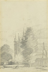 salisbury cathedral: the west end by john constable